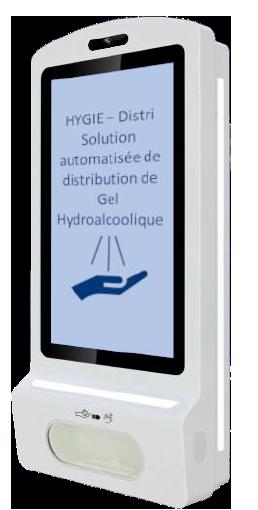 le hygie distribue automatiquement du gel hydroalcoolique